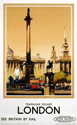 'London - Trafalgar Square', BR(LMR) poster, 1948-1965.