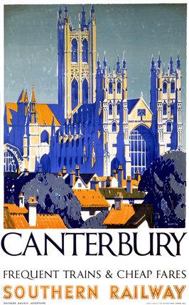 'Canterbury', SR poster, 1923-1947.