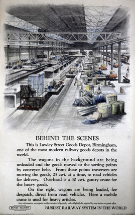 'Behind the Scenes', poster, 1951.