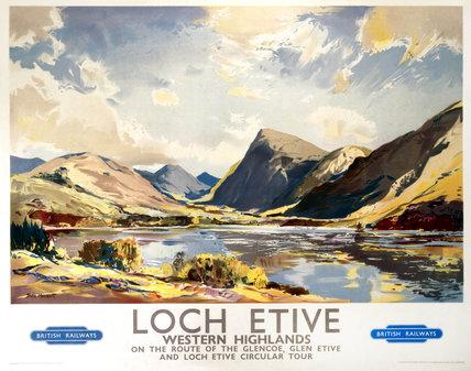 'Loch Etive, Western Highlands, BR(ScR) poster, 1948-1965.