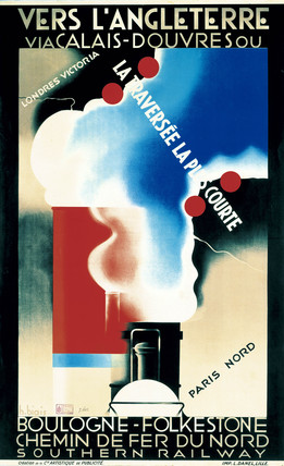 'Vers L'Angleterre via Calais - Douvres', SR poster, c 1930.