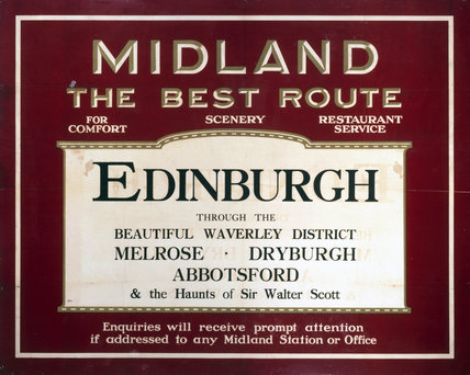 'Edinburgh through the beautiful Waverley district', MR poster, 1900-1923.