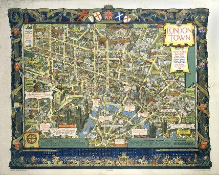 'London Town', SR poster, 1938.