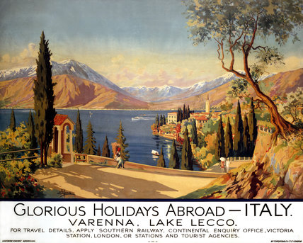 'Glorious Holidays Abroad - Italy', SR poster, 1928.