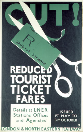'Reduced Tourist Tickets Fares', LNER poster, 1923-1947.