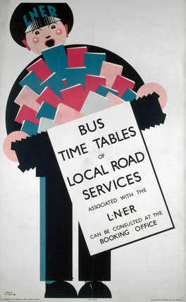 'Bus Timetables of Local Road Services', LNER poster, 1923-1947.