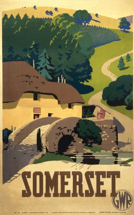 'Somerset', GWR poster, 1936.