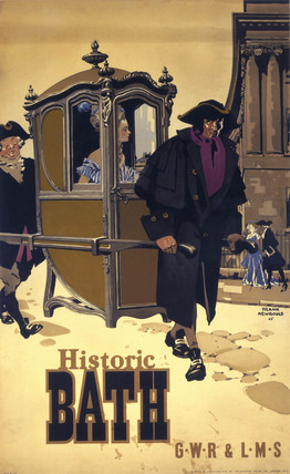 'Historic Bath', GWR/LMS poster, 1946.