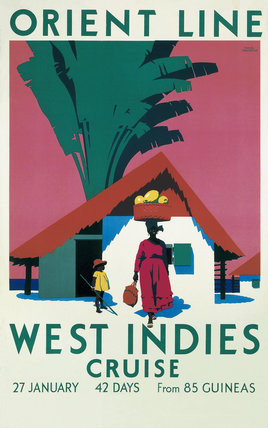 'West Indies Cruise', Orient Line poster, c 1930.