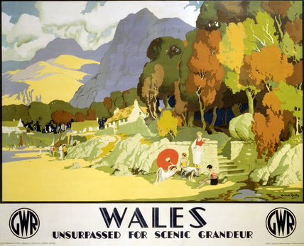 'Wales - Unsurpased for Scenic Grandeur', GWR poster, c 1930s.