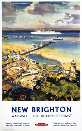 'New Brighton', BR (LMR) poster, c 1950s.