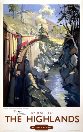 'By Rail to The Highlands', BR(ScR) poster, c 1950s.