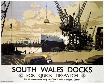 'South Wales Docks', GWR Poster, 1947.