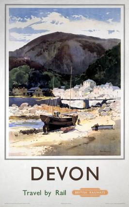 'Devon', BR (WR) poster, c 1950s.
