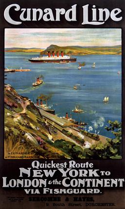 'Cunard line', poster, c 1914.