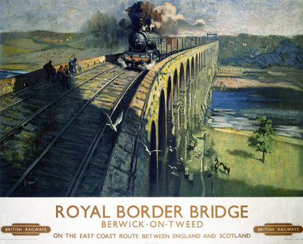 'The Royal Border Bridge', BR poster, 1948-1965.