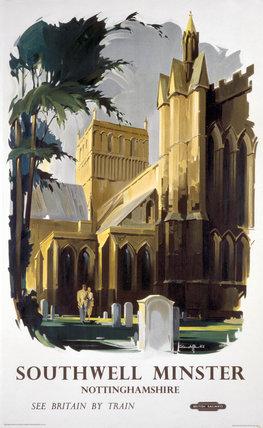 'Southwell Minster', BR (LMR) poster, 1948-1965.