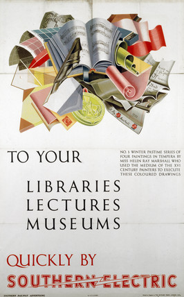 'To your libraries, lectures, museums', poster, 1937.
