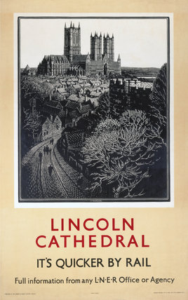 'Lincoln Cathedral', LNER poster, 1923-1947.