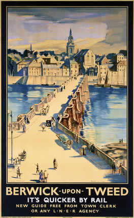 'Berwick-upon-Tweed', LNER poster, 1923-1947.