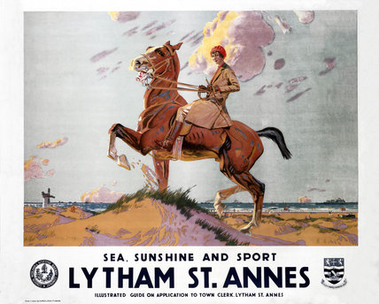'Sea, Sunshine and Sport: Lytham St Annes', LMS poster, 1923-1947.