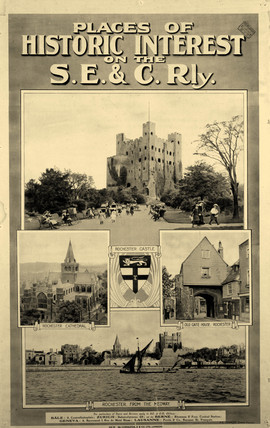 'Places of Historic Interest', SE & CR poster, 1922.