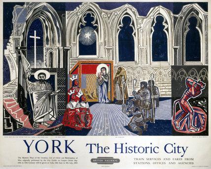 'York', BR poster, 1954.