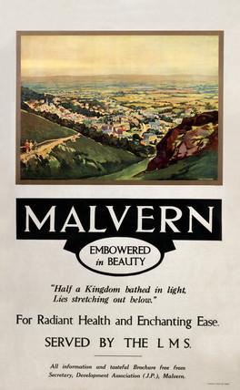 'Malvern', LMS poster, 1923-1947.