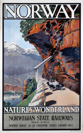 'Norway - Nature's Wonderland', Norwegian State Railways poster, c 1930s.