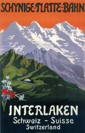 'Interlaken', Swis railway poster, c 1930s.