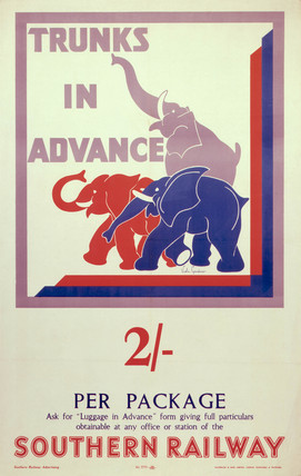 'Trunks in Advance', SR poster, 1934.