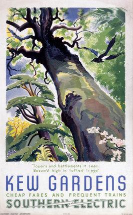 'Kew Gardens', SR poster, 1937.