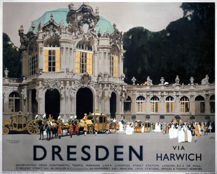 'Dresden via Harwich', LNER poster, 1923-1947.