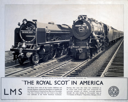 'The Royal Scot in America', LMS poster, 1933.
