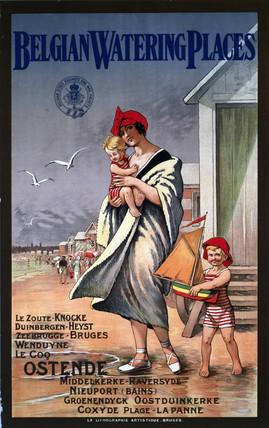 'Belgian Watering Places', Belgian State Railway poster, c 1930s.