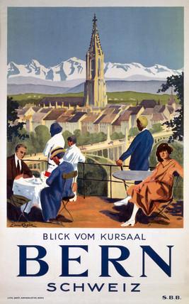 'Bern', SBB poster, c 1930s.