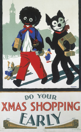 'Do Your Xmas Shopping Early', Victoria Railways (Australia) poster, c 1940s.