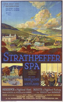 'Strathpeffer Spa', HR poster, 1865-1923.