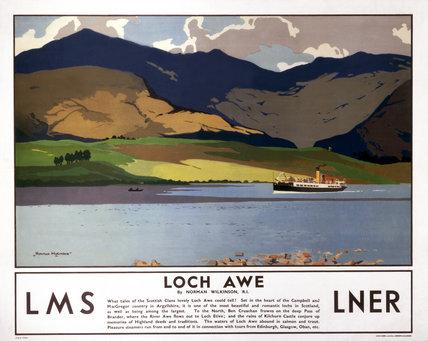 'Loch Awe', LMS/LNER poster, 1923-1947.