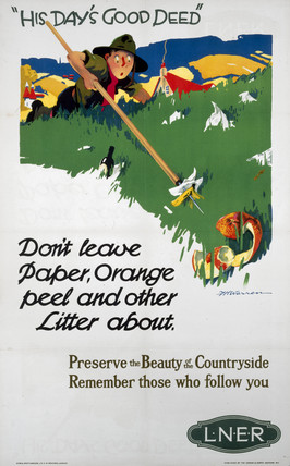 'His Day's Good Deed...', LNER poster, 1923-1947.