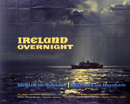 'Ireland Overnight', BR(LMR) poster, 1948-1965.