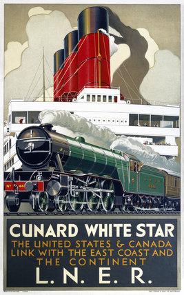 'Cunard White Star', LNER poster, 1923-1947.