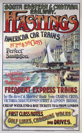 'Hastings', SE&CR poster, 1905.