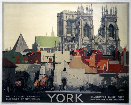 'York', LNER poster, 1923-1947.
