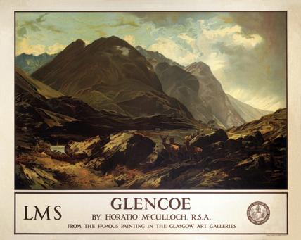 'Glencoe', LMS poster, c 1940s. London Midl