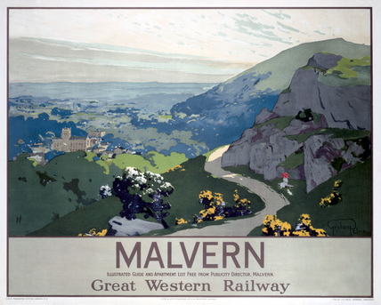 'Malvern', GWR poster, 1923-1947.