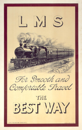 'The Best Way', LMS poster, c 1920s.