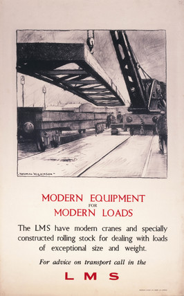 'Modern Equipment for Modern Loads', LMS poster, 1923-1947.
