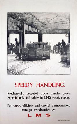 'Speedy Handling', LMS poster, 1923-1947.