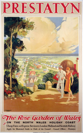 'Prestatyn - The Rose Garden of Wales', LMS poster, 1923-1947.